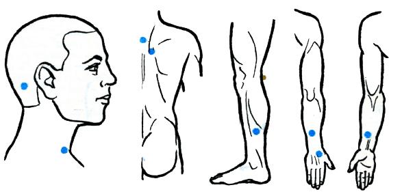 Как делать точечный массаж при гипертонии техника активные точки и меры предосторожности